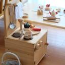 子どもが自分で片づけられる、ままごとキッチン