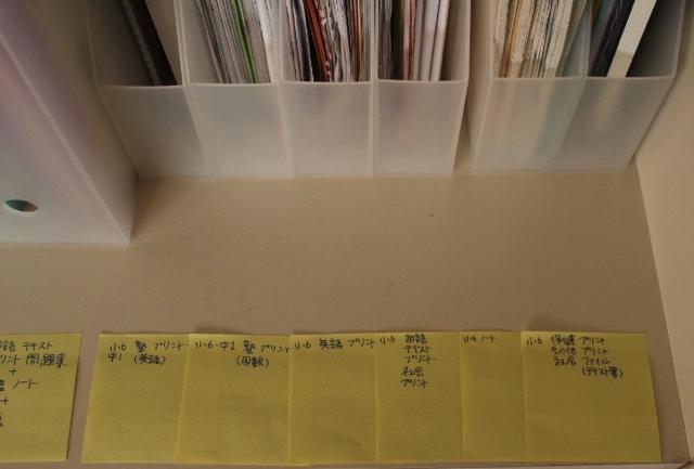 とっておく教科書・ノート・プリントはファイルボックスで管理