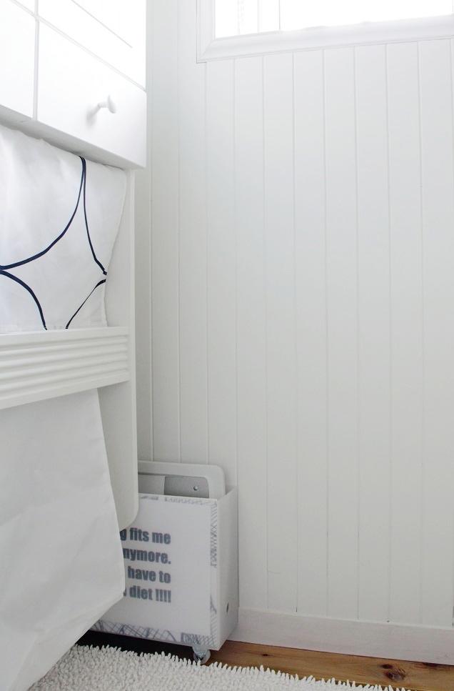 洗濯ホース・体重計の収納も!「無印良品」のファイルボックスでスッキリ解決!
