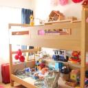 """2段ベッドは子どもの寝る場所? いいえ、""""おもちゃの寝る場所""""にしたっていいんです"""