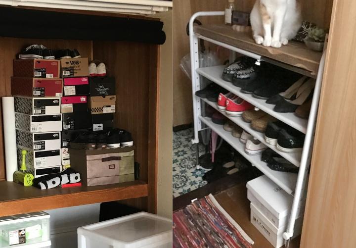 夫の靴は120足!「使っていない」より「大切にしたい」から考え抜いた収納で、イライラ解消
