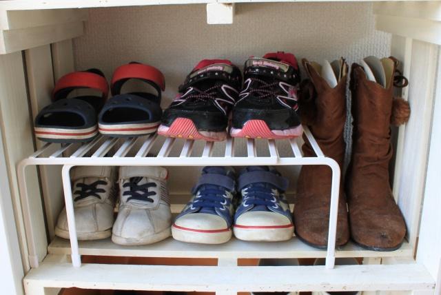 子どもの靴収納問題は、スノコをDIYしたシューズラックで解決!!
