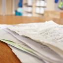 """【小学校入学準備】ランドセルや教科書の置き場所の次に作っておきたい""""おわったプリント入れ"""""""