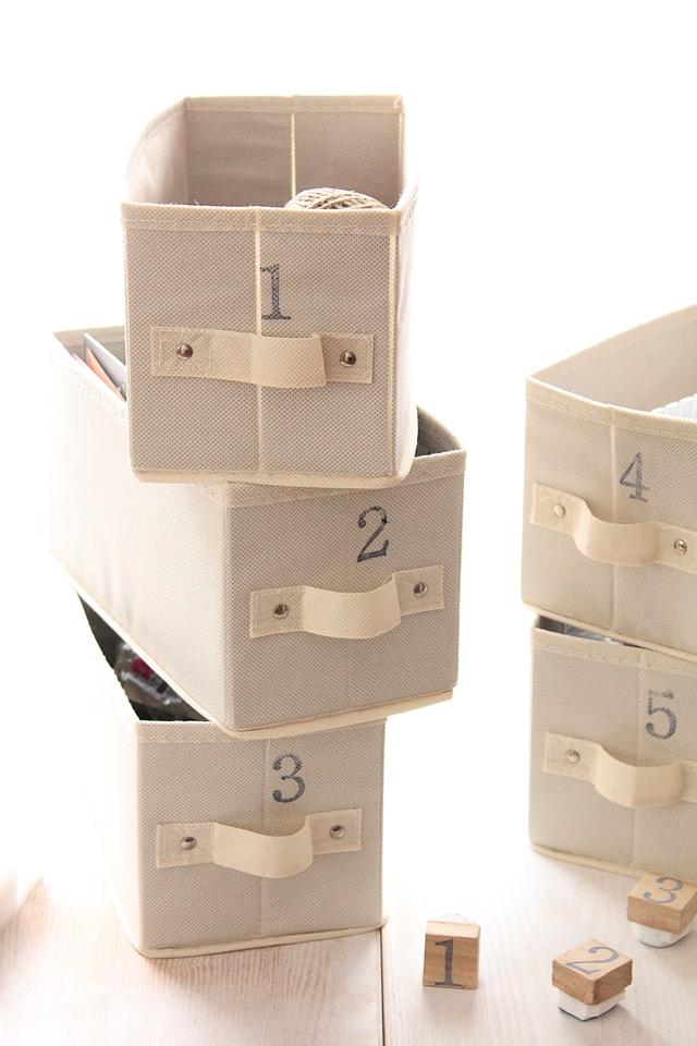 言葉で分類しにくい、ざっくり収納に効果を発揮する数字ラベリング