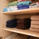 タオルの用途別収納で、収納も心もスッキリ