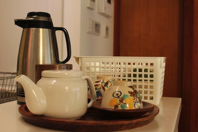 「お茶セットはここ」と場所が決まっているだけで、もてなす人も安心!