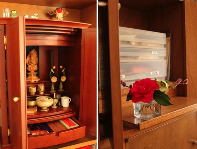 お墓参りやお悔みのときに必要なものは、仏壇を置く場所に集める!