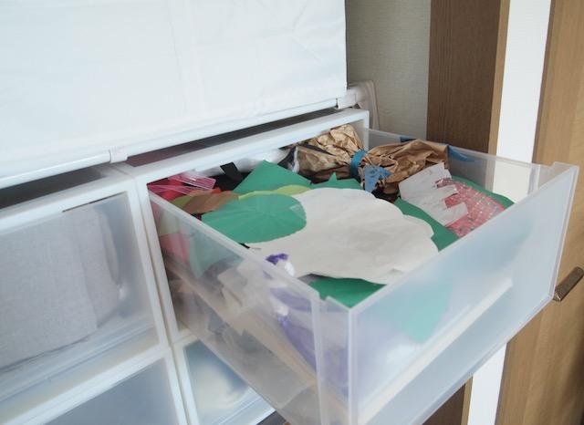 子どもの作品はざっくり収納!「無印良品」と「IKEA」のダブル使いで作品整理は年に1回だけ!