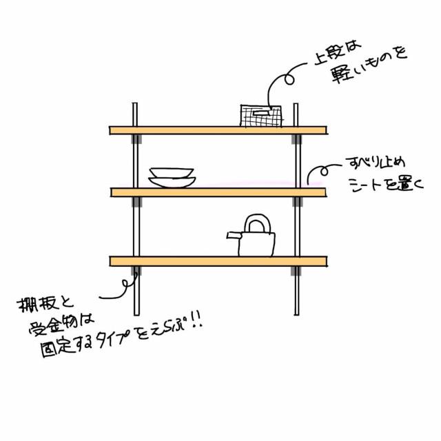 キッチンのカップボード 使いやすさと耐震性を両立させるために知っておきたいこと