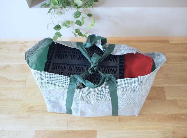 帰省の荷造りに使える!IKEAの買い物バッグ+DAISOのコンテナの合わせ技
