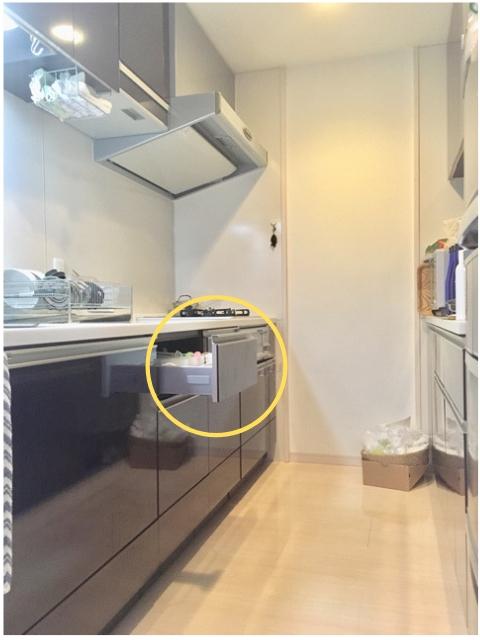 システムキッチンの引き出しに、とにかくたくさん入れたい!人のカトラリー収納