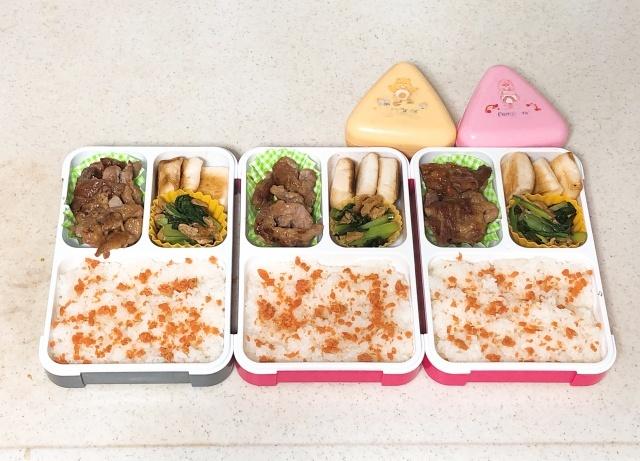 3人分のお弁当作り、ラクするために選んだお弁当箱は「フードマン」。その理由とは?