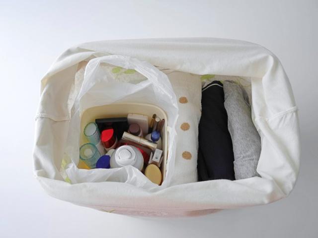 【帰省の準備と片づけ】洗面用品はソフトバスケットを使えばラクになる!