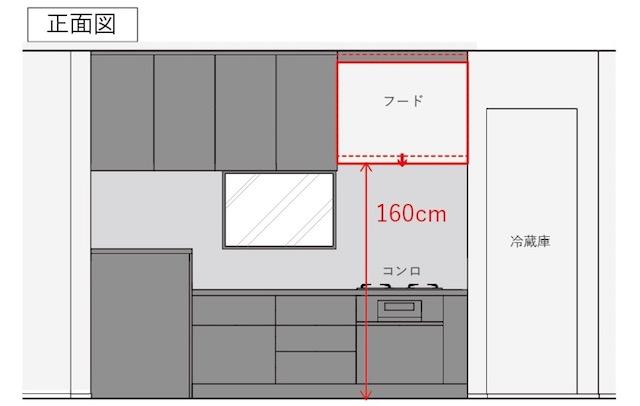 """""""掃除が楽""""を叶えた新築のキッチンは""""レンジフードの高さ""""が重要でした!"""