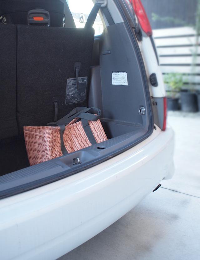 エコバッグは車に収納でうっかり忘れなし!移動の面倒さはバトンリレー方式で解消