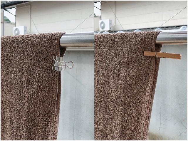 """洗濯グッズはどうしてる? ハンガー・ネットは""""かけるだけ""""、洗濯バサミは代用品で超シンプル収納"""