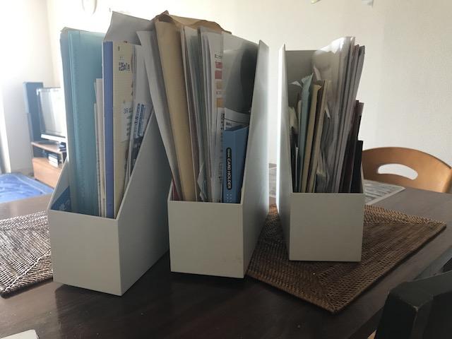 細かな分類は不要!ズボラさん向き書類収納は「無印良品」のファイルボックスで簡単スッキリ