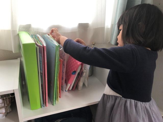 「こどもちゃれんじ」子どもが集中&教材の管理ができる専用スペースの作り方