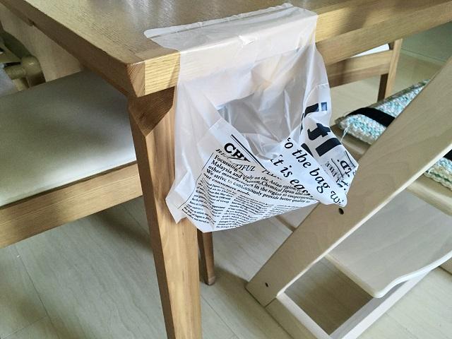 ゴミ箱を置けないところにぴったり!「ダイソー」のどこでもペタッとゴミ袋