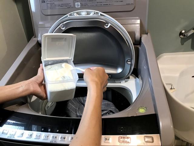 洗濯物のイヤな臭いを撃退!万能エコ洗剤「ピリカレ」をひとさじ加えるだけ