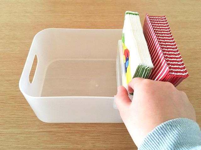 「バスケット用仕切り」でボックス内のごちゃつき防止!出し入れを楽にする3つの使い方