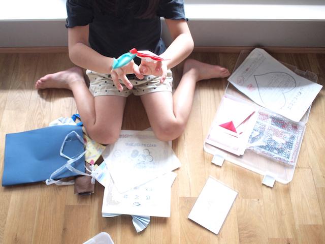 小学生4人のプリント整理。どんなプリントを保管する?いつ処分する?はこんなに違う