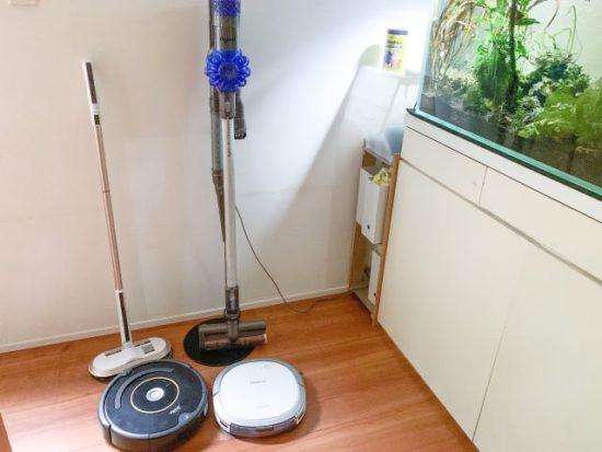 コードレス&ロボット掃除機4台をフル活用!それぞれの使い方とメリットは?